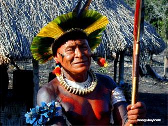 Kayapo shaman in Brazil. Mongabay.com