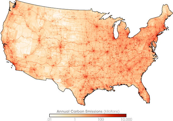 Boilingspot Nasa Releases A New Map Of America Showing Local Carbon