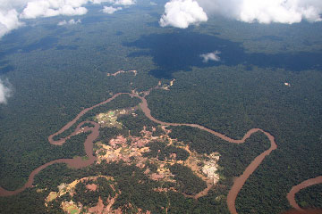 Gold mining in Suriname