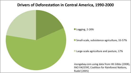 Chart: Drivers of deforestation in Central America