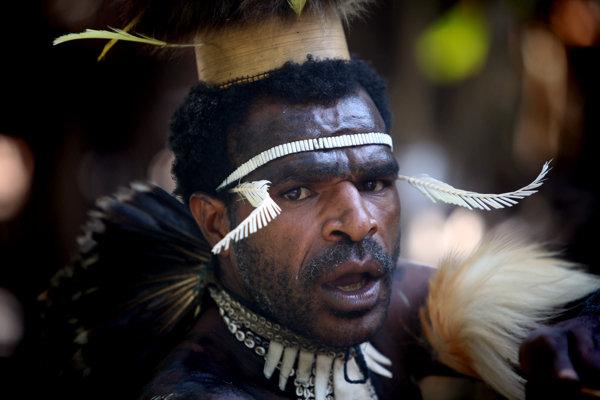 Photo: Dani hunter in Indonesian New Guinea