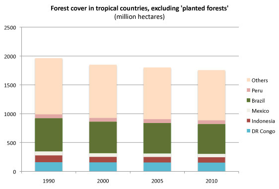 forest cover in tropical countries