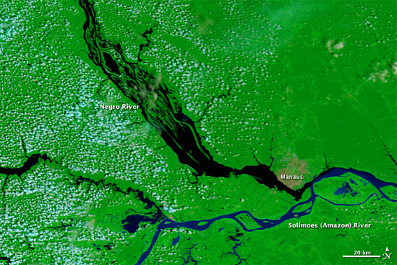 nasa image reveals record low amazon river levels