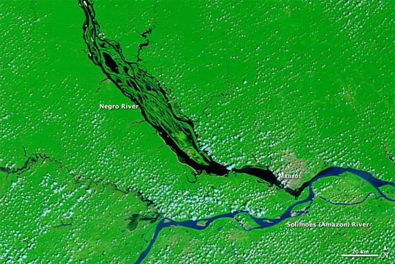 nasa: record drought in the amazon