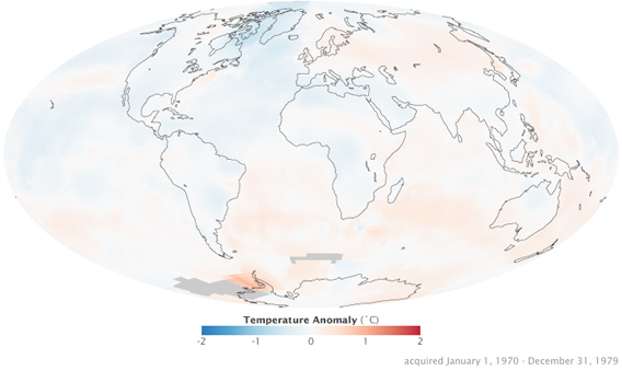 nasa global warming map