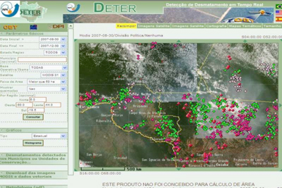 INPE's DETER system.
