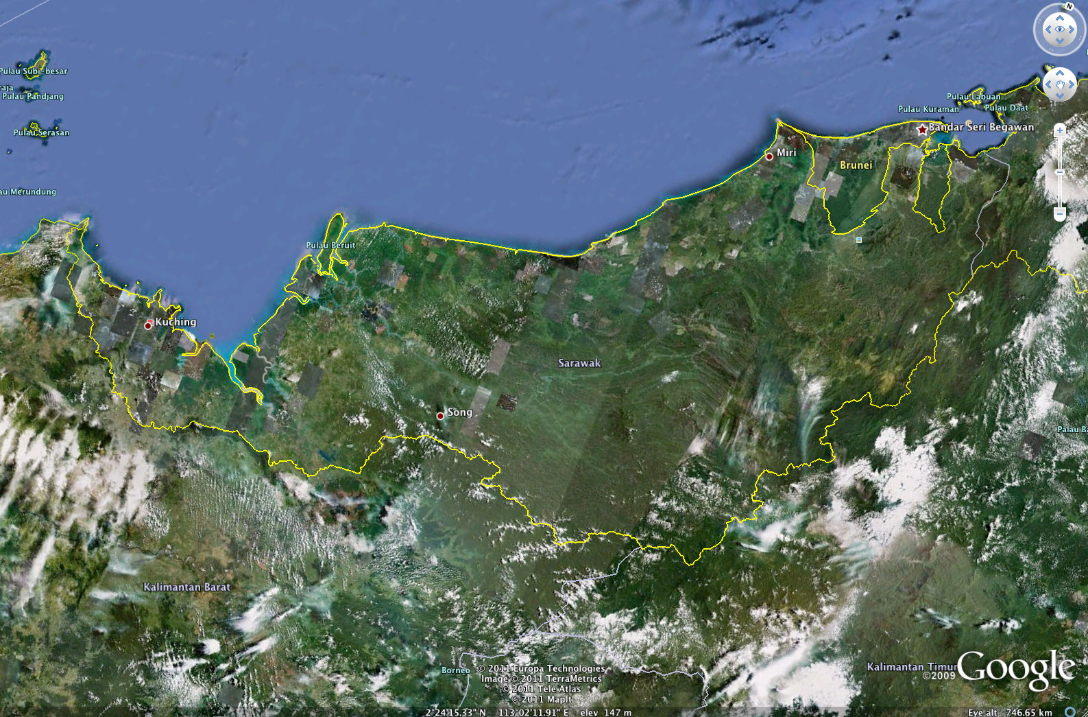 Google earth reveals stark contrast between sarawaks damaged photo courtesy of google earth gumiabroncs Images