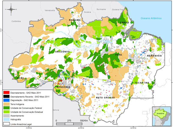 Deforestation in May 2011