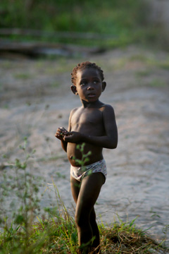Child in Gabon.