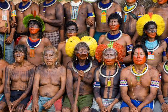 Meeting of Kayapo leaders