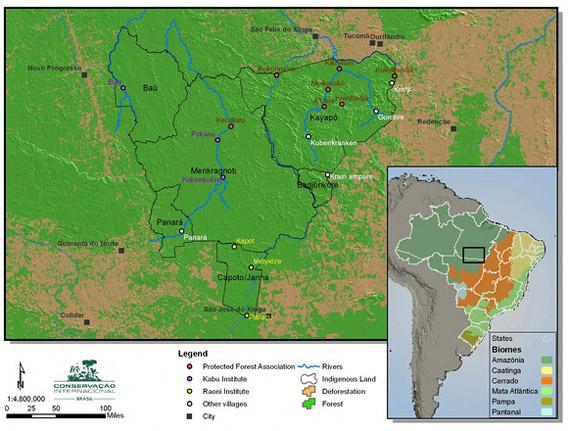 Map of Kayapo territory