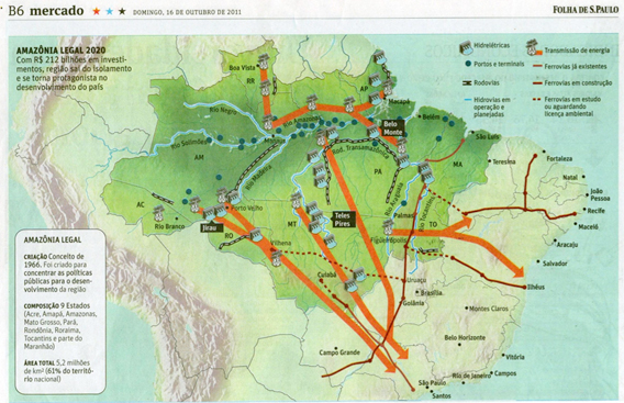 Infrastructure investments in the Brazilian Amazon.