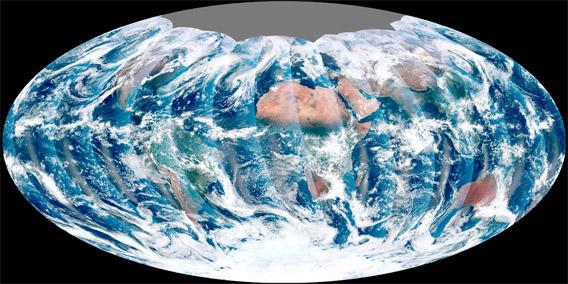 VIIRS earth image.