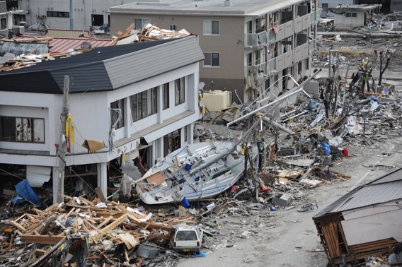 Tsunami Destruction and subsequent tsunami