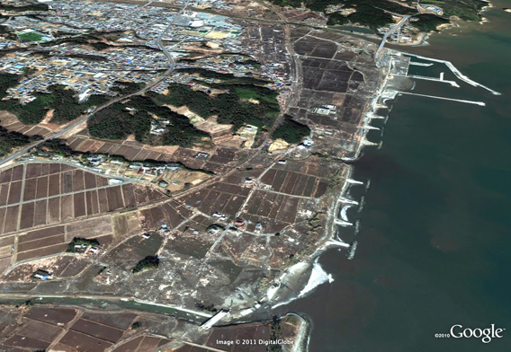 Fukushima Tomioka after tsunami damage