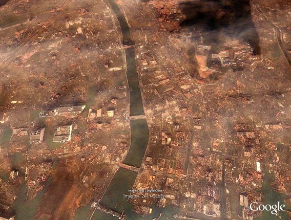 Minamisanriku detail tsunami damage