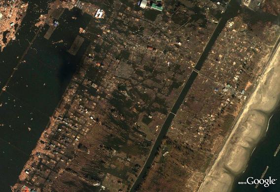 Sendai Arahama after the March 11, 2011 Sendai earthquake and tsunami
