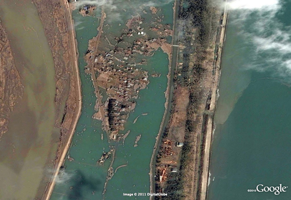Sendai Terashima after the March 11, 2011 Sendai earthquake and tsunami