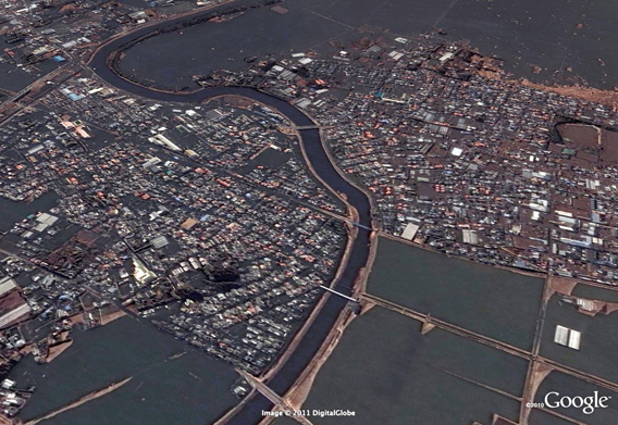 Sendai Yamoto after the March 11, 2011 Sendai earthquake and tsunami