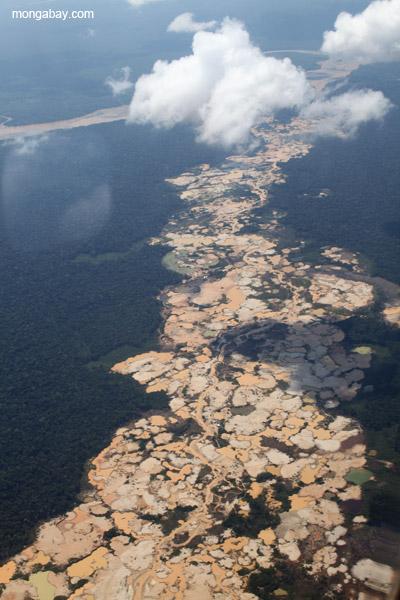 Gold mine in Peru.