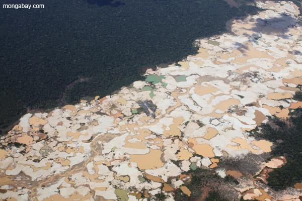 Gold mining in Peru.