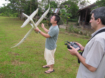 Remote-controlled conservation aircraft