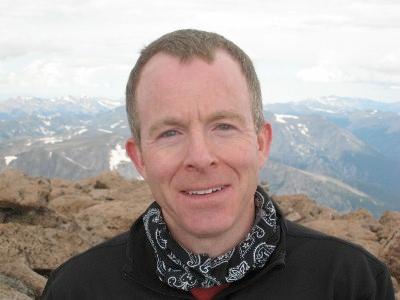 David Baron on Long's Peak in Colorado.