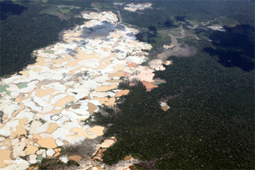 Gold mining is a threat to Tambopata Reserve in Madre de Dios.