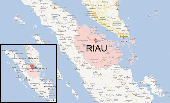 Map of Riau