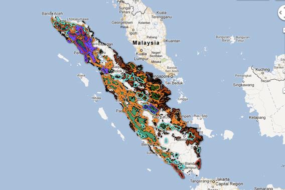 The new Sumatra map.