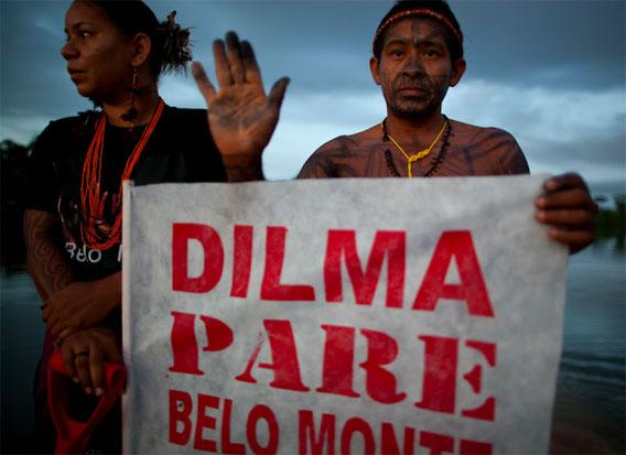 Belo Monte protest.