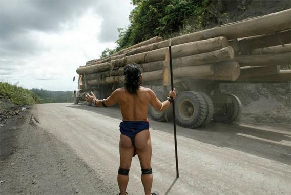 Indigenous protest in Sarawak