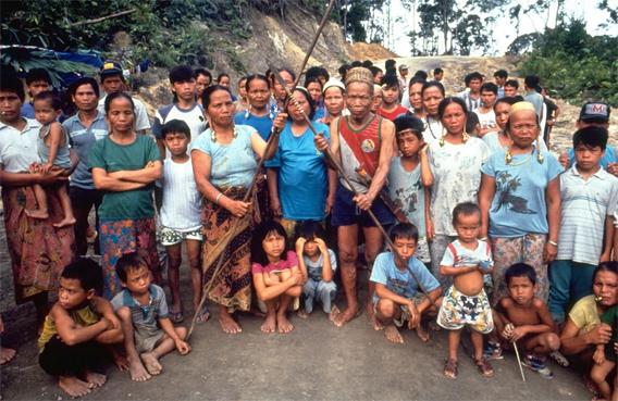 Indigenous village in Sarawak