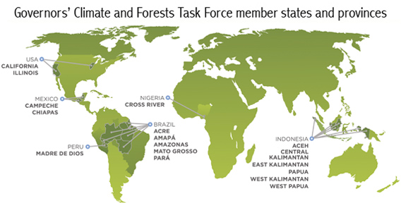 Governors Climate and Forest Task Force members