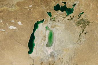 Shrinking Aral Sea:August 15, 2011