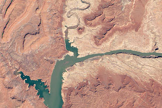 Water Level in Lake Powell:April 20, 2012