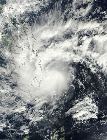 Tropical cyclone Sendong as seen by NASA's Terra satellite. Photo by: NASA.