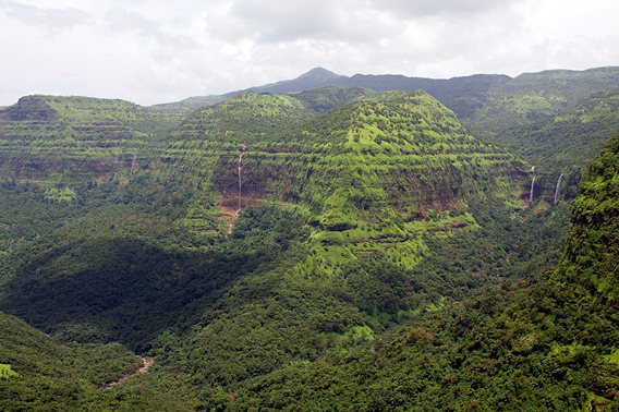 View from Varandha Pass in the Western Ghats.
