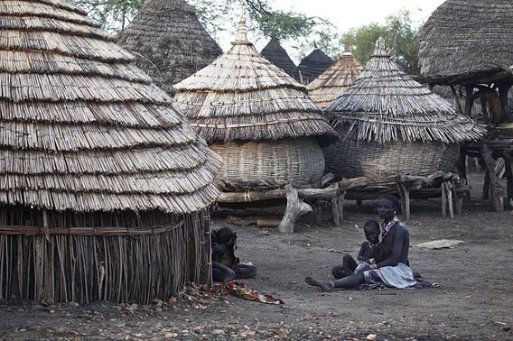 A village in South Sudan. Photo by: Steve Evans.