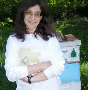 May Berenbaum at an apiary. Photo courtesy of Berenbaum.