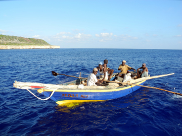 Haitian fishermen. Photo by: Andrew Bruckner.