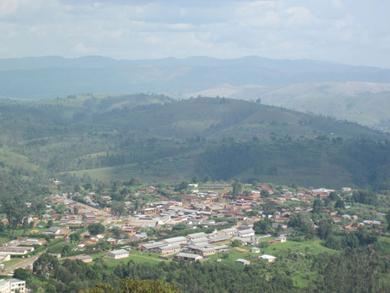 Bururi town lies adjacent to Bururi Forest Reserve. Photo by: David Blackburn.