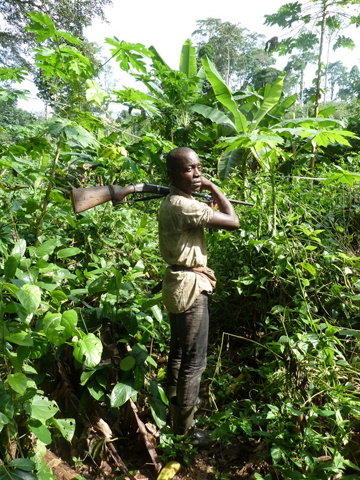 Hunter in the Republic of the Congo. Photo courtesy of ESI.