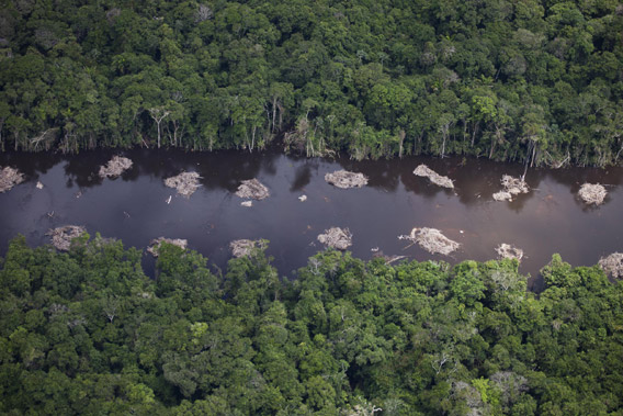 Construction of a canal for the Belo Monte Dam project, near Altamira. Photo by © Greenpeace/Daniel Beltra.