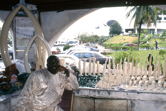 Ivory market at Lagos airport. Photo by: D. Stiles.
