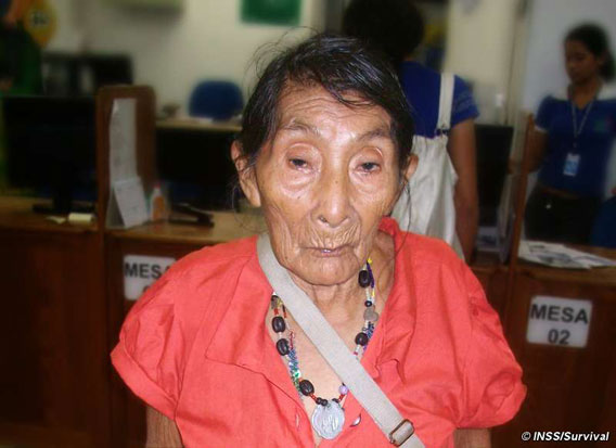 Sabato 3 settembre, Maria Lucimar Pereira compie 121 anni. Fotografia concessa da Survival International .