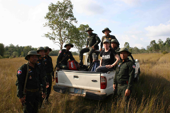 Suwanna Gauntlett with Tati Ranger Station Patrol Unit. Photo courtesy of Suwanna Gauntlett.