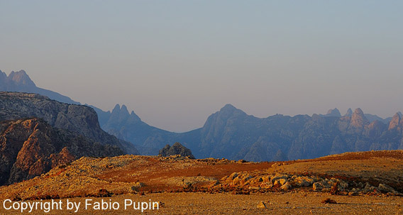 The mountains of Socotra Island. Photo by: Fabio Pupin.