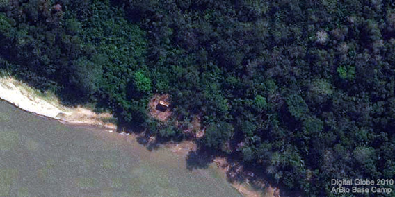 Satellite image of the Arbio base camp. Photo by: Arbio.