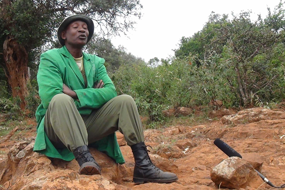 Africa's Wildest Stories is a new initiative in Kenya to capture personal stories about the relationship of people to nature. Elephant Keeper Mishak Nzimbi (above) has been working at the David Sheldrick center since he was a teenager.  It's a job he would never give up for anything. He is an ordinary man living an extraordinary life: as an elephant nanny, he has raised 80 baby elephants. His story is 'Life as an Elephant Nanny.' Photo courtesy of Paula Kahumbu.